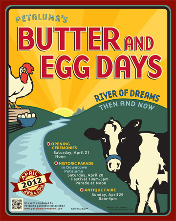 Butter & Egg Days Poster 2012