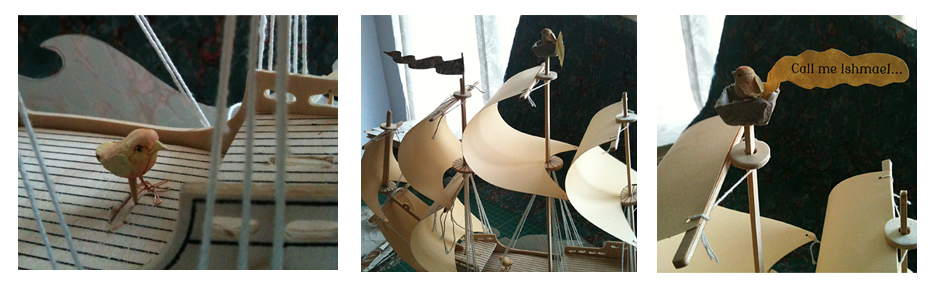 Centerpiece for school fundraiser 'Changing Tides', based on Moby Dick