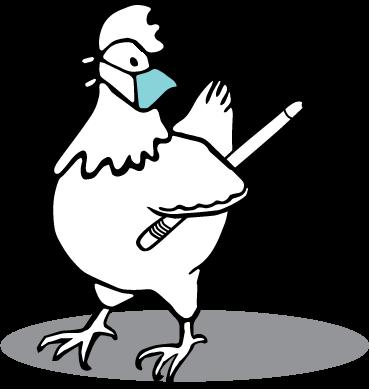 Masked Petaluma Chicken